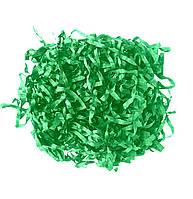 Зеленый Бумажный наполнитель для подарорков, декора стружка 12 гр/уп