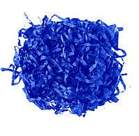 Синий Бумажный наполнитель для подарорков, декора стружка 12 гр/уп