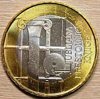 Монета Словении 3 евро 2010 г. Любляна