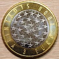 Монета Словении 3 евро 2008 г. Президенствование в ЕС, фото 1