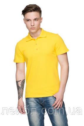 Футболка поло мужское, желтый, фото 2