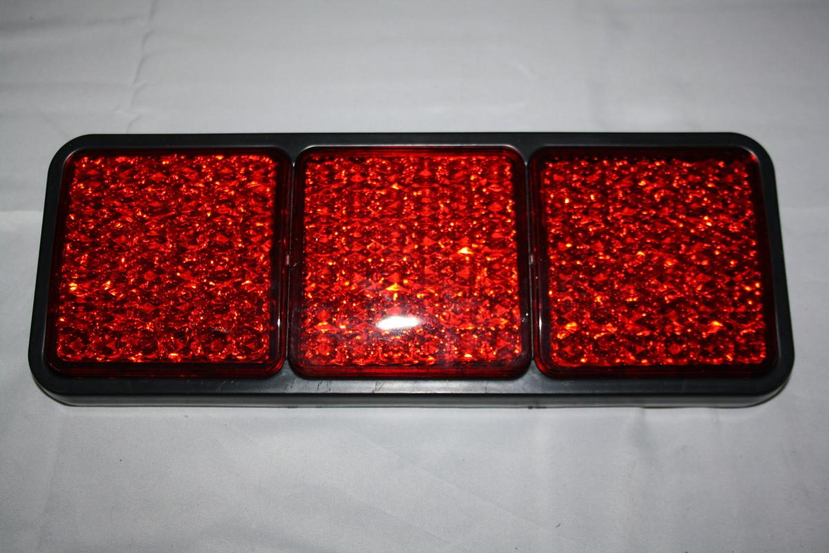 Задній діодний 3-х секційний ліхтар (червоний)