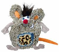 Trixie (Трикси) Игрушка для собак крыса плюшевая круглая 17см