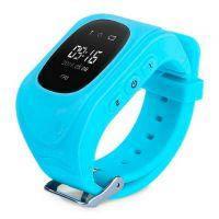 Детские часы-телефон с GPS-трекером Q50 Голубые