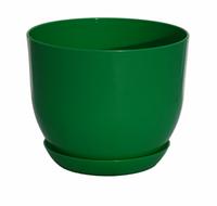 """Вазон """"Классик"""", зеленый, Оранжерея 13*10 см"""