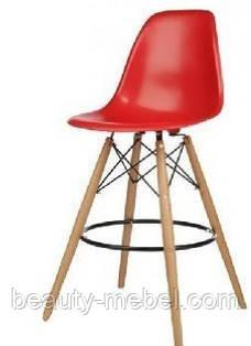 Стул для визажиста, барный Тауэр Вуд, высокий, цвет красный