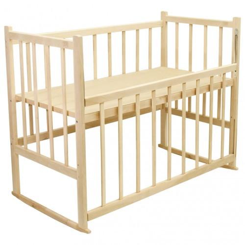 Кровать КФ-1 простая (два положения дна, опускание боковушки, качалка, колесики)