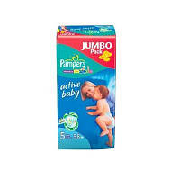 Подгузники 5 Junior 11-18кг 58шт Active baby Jumbo Pampers 1/1
