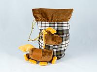 Лошадка с мешком для подарка