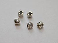 Фурнитура металлическая Бусина-разделитель серебряная
