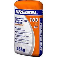 Смесь клеевая для плитки для внутренних и наружных работ усиленная Super Multi 103 25,0кг Kreisel 1/42