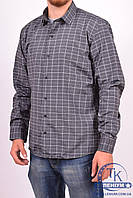 Рубашка мужская  (цв.серый) (slim fit)  businessX клетка Размер:44,46,48