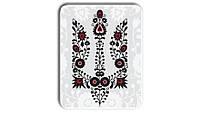 Металл открытка - табличка Вышиванка - тризуб