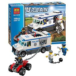 """Конструктор Bela 10418 Urban """"Автомобіль для перевезення ув'язнених"""" 198 деталей ."""