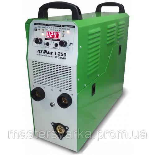Сварочный инверторный полуавтомат Атом I-250 MIG/MAG 220 Вольт с горелкой RF GRIP 26 и кабеля 4+3 м КГ-25