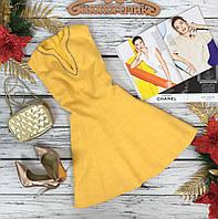 Платье ярко желтого цвета из костюмной ткани  DR5293