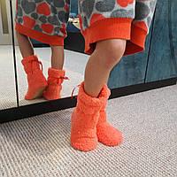 Махровые тапочки-сапожки для девочки