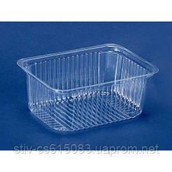 Пластмковая упаковка для салатов и полуфабрикатов пс-160(500 мл)