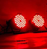 Световой прожектор Led par 54x3 RGBW 3в1. Светомузыка, стробоскоп