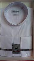 Рубашка белая приталенная с длинным рукавом  Pierre Pasolini под бабочку