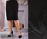 Юбка женская прямого кроя  Размеры 50.52.54.56.58, фото 2