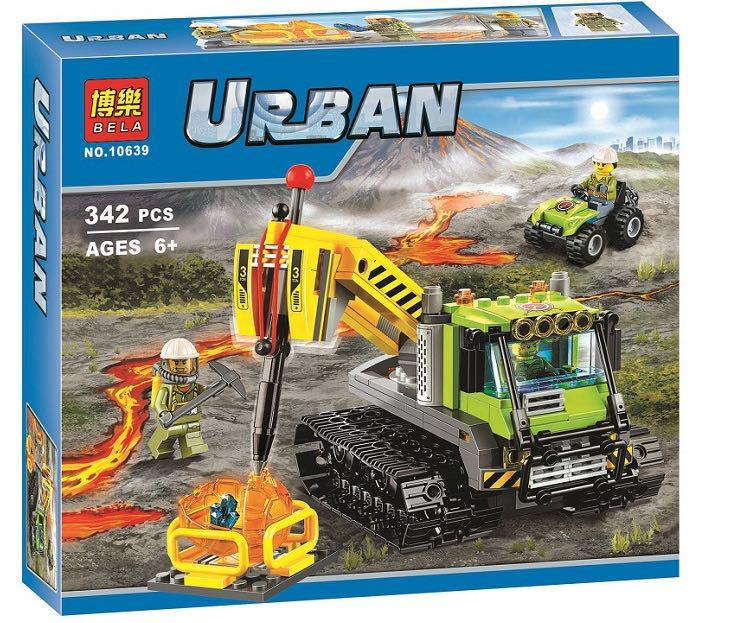 """Конструктор Bela 10639 Urban """"Вездеход исследователей вулканов"""" 342 детали."""