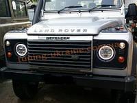 Передние фары на Land Rover Defender 1990
