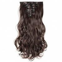 Волосы трессы на заколках ТЕРМО 8 прядей №4 волна длина 50см