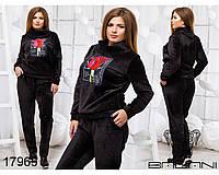 Спортивный костюм батал с аппликацией розы с 50 по 56 размер