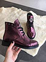 Кожаные ботиночки Plein от производителя, фото 1