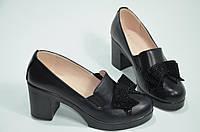 Туфли женские кожзам на каблуке, фото 1