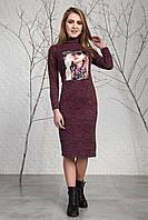 Модное стильное теплое платье из ангоры 123-2