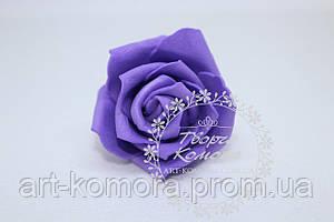 Головка розы латексная фиолетовая, 5 см