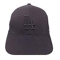 Черная бейсболка LА с черным логотипом
