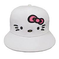 Белая кепка Hello kitty