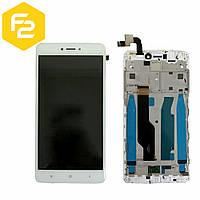 Экран дисплей Xiaomi Redmi Note 4x Белый, рамка + модуль LCD + сенсор