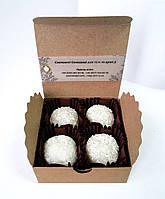 Цукерки Рафаелло органічне мило-скраб з кокосом 100г