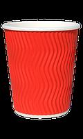 Гофростакан бумажный 175 мл красный