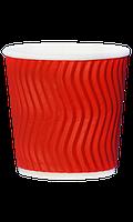 Гофрированный стакан 110 мл красный