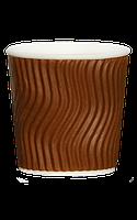 Гофрированный стакан 110 мл коричневый