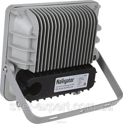 Navigator 71318 NFL-M-50-4K-IP65-LED (аналог ИО 500 Вт) прожектор серый 220V 50W, фото 2