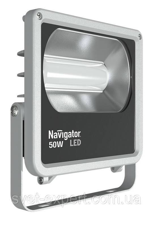 Navigator 71318 NFL-M-50-4K-IP65-LED (аналог ИО 500 Вт) прожектор серый 220V 50W
