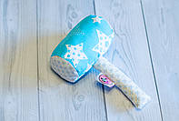 """Текстильная погремушка для новорожденного """"Молоток голубой"""""""