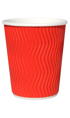 Гофростакан бумажный 250 мл красный