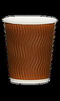 Гофростакан бумажный 250 мл коричневый