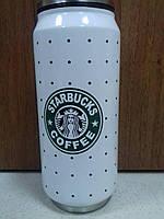 Термобанка Starbucks Logo (Старбакс лого), белая в точку