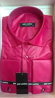 Рубашка Элегантная приталенная запонку Pierre Pasolini малина