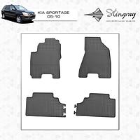 Резиновые коврики Stingray для Kia Sportage 2005 - комплект 4 шт.