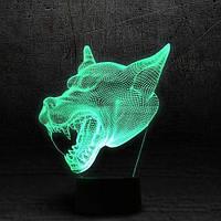 "3D Ночник , Светильник, LED лампа - ""Волк"""