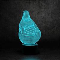 "3D Ночник , Светильник, LED лампа - ""Ждун"""